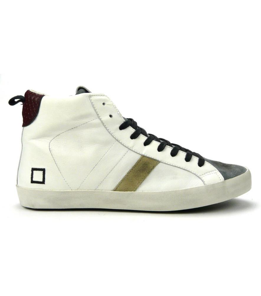 hot sale online 85622 15d6f D.A.T.E. - hill high nappa white-gray | RUFFILLISHOES Show-Room